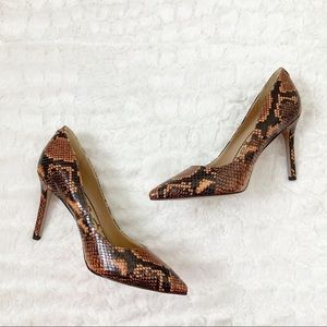 Sam Edelman Hazel Snakeskin pointed toe pumps